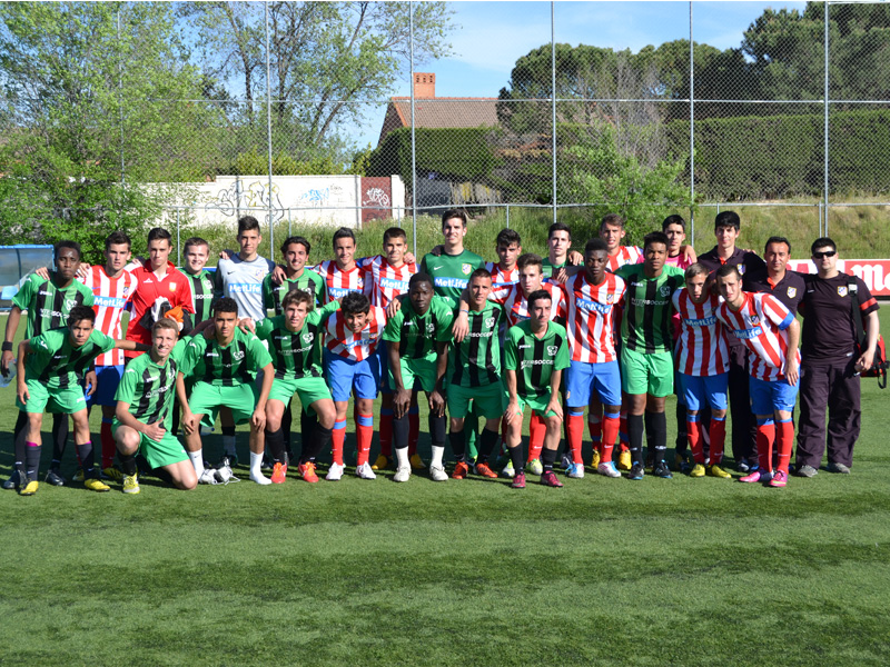 The InterSoccer Academy Club treats Atletico de Madrid peer to peer in an amical match