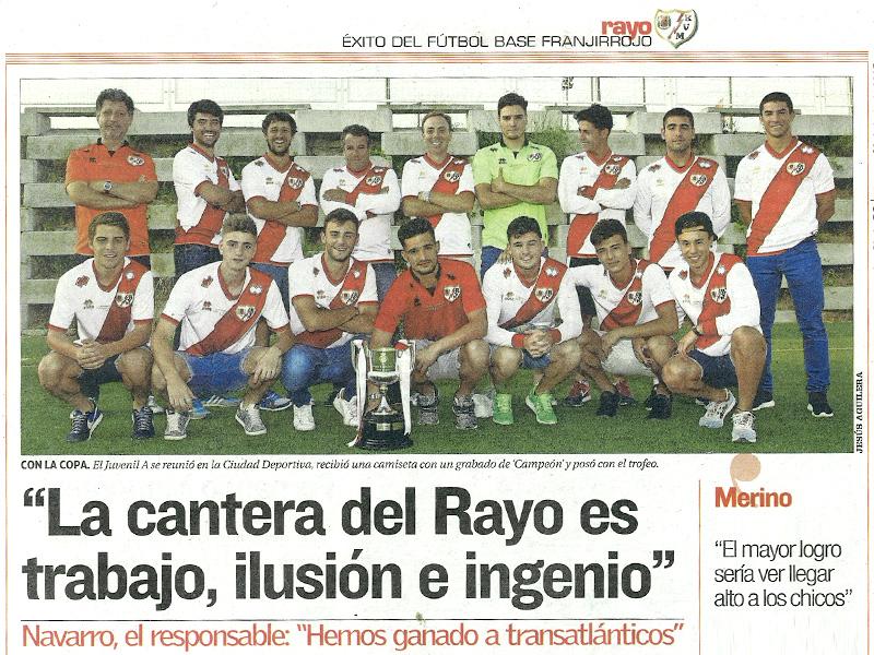 Rayo Vallecano, Campeón de la Copa del Rey Juvenil 2015