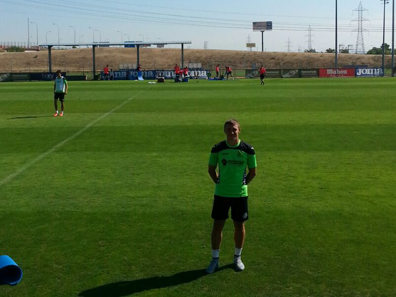 Bogdan with the first team of Getafe C.F.