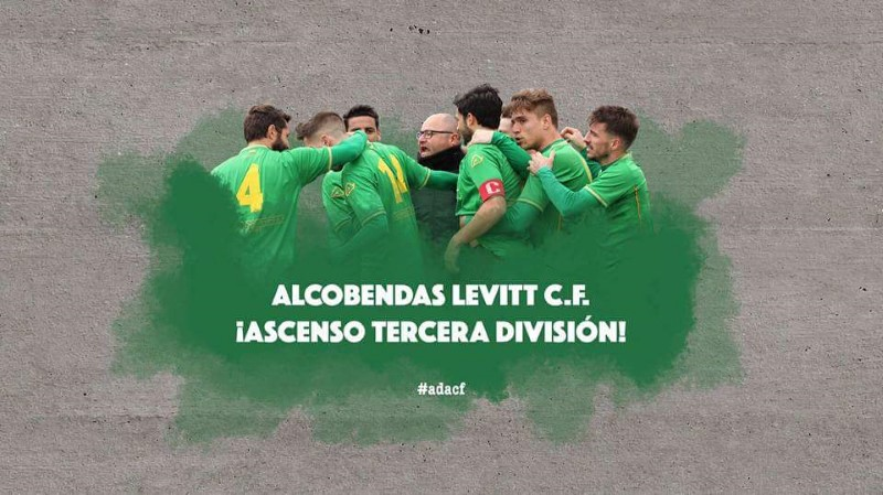EL ALCOBENDAS LEVITT C.F. -CLUB PATROCINADOR DE LA A.C. INTERSOCCER MADRID-  ASCIENDE A TERCERA DIVISION NACIONAL