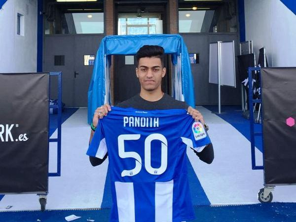 Ishan Pandita, signs for La Liga club CD Leganés.