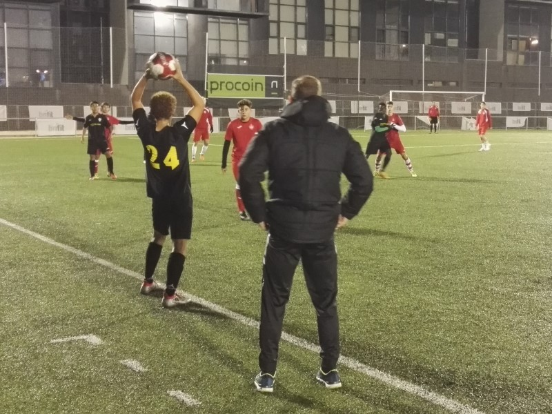 Liga Open de Talentos Intersoccer contra el U.D. Sanse