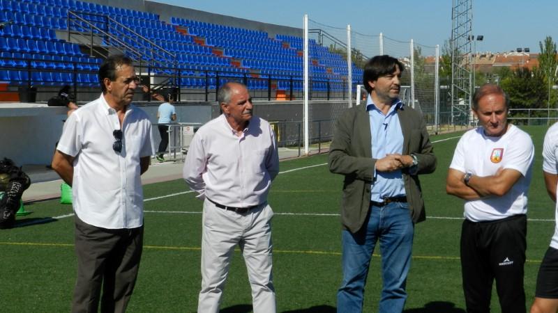 FERNANDO ZAMBRANO Y MANOLO GALLEGO PRIMERAS VISITAS DEL 'MASTER COACHING DE INTERSOCCER 2017/2018'.-