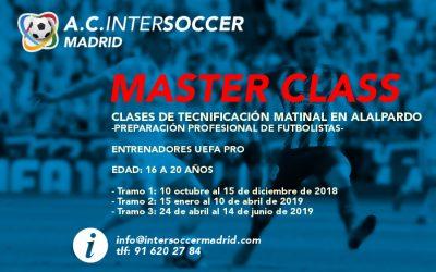 Master Class en Intersoccer Madrid Academia de Fútbol