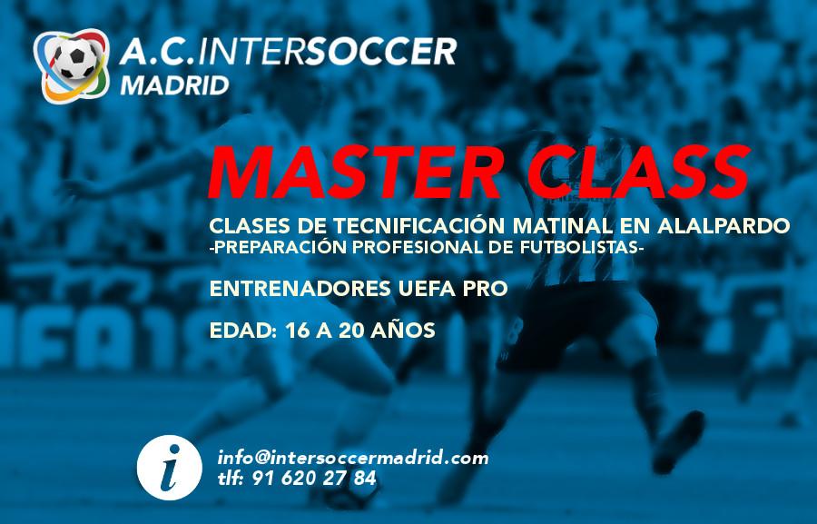 MasterClass 2019-2020 en Intersoccer Madrid Academia de Fútbol