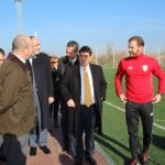 In his technification of Alalpardo (Madrid), the A.C. INTERSOCCER receives the visit of the Vice President of CAM, Pedro Rollán