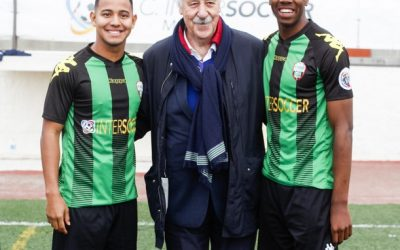 Vicente Del Bosque visits A.C. Intersoccer Madrid